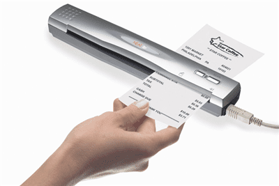 NeatReceipts comes with a compact and lightweight scanner, software to organize your digital images