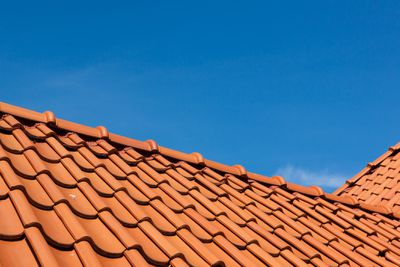 Roof tile pattern, close up