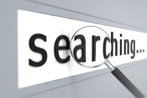 Search Engine Marketing search bar on webpage
