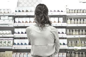 Woman looking at products in a store
