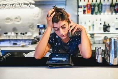 Business owner worried about finances