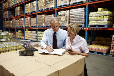 Workers in a Food Distribution Warehouse