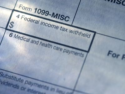 Close up of 1099-MISC form.