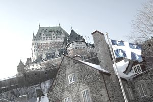 Chateau Frontenac in Winter, Quebec City, Quebec Not Property Released