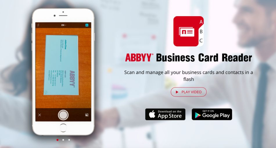 The 8 best business card scanner apps to use in 2018 best overall abbyy business card reader reheart Gallery
