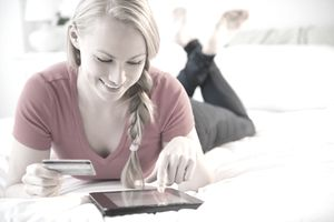 Interactive marketing allow person to pay online using a credit card