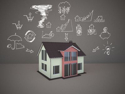 3D rendering, Family home with drawings of home dangers