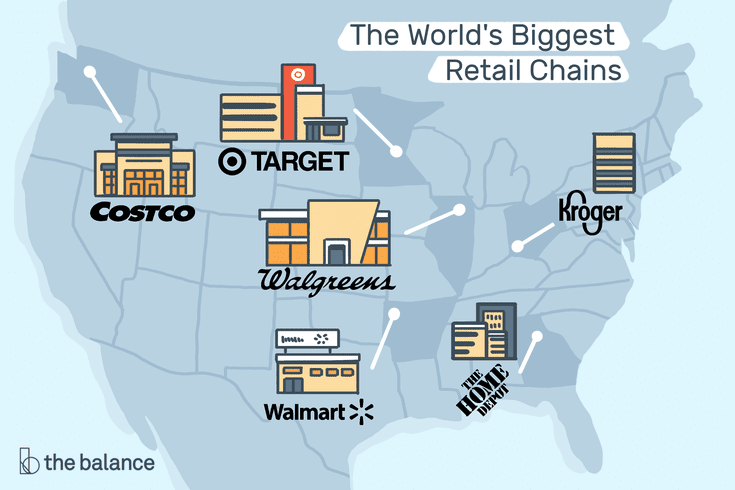 The Worlds Biggest Retail Chains - Map-of-walmart-stores-in-us