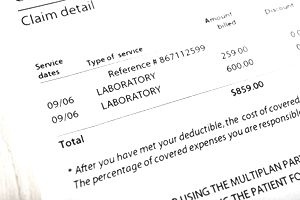A medical bill for laboratory services