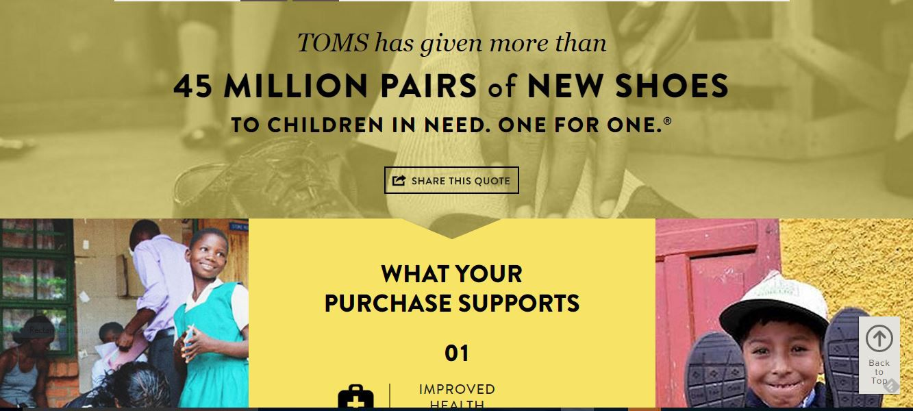 TOMS Shoes has become a movement! Now you can buy an assortment of products that trigger charitable giving.