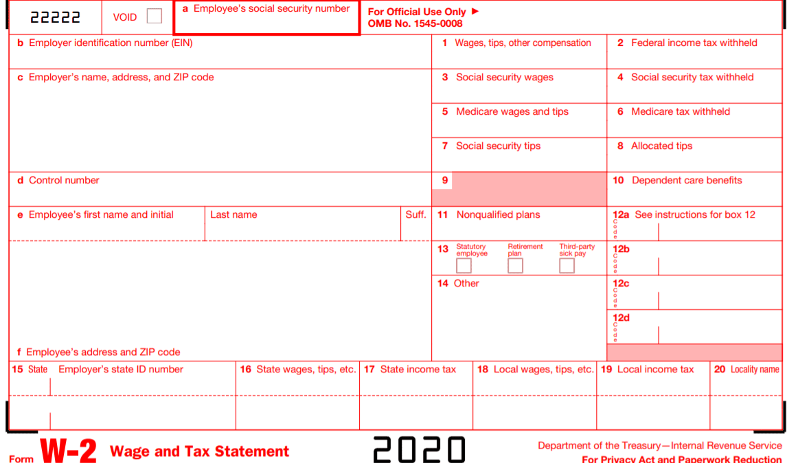 Irs W 2 Forms What Are They