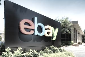 eBay campus entrance sign in San Jose, California