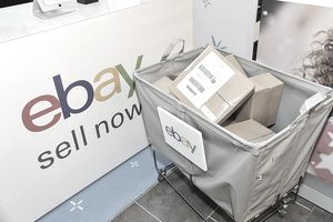 ebay boxes in a cart