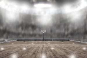 Basketball Arena With Copy Space