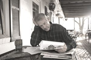 Business owner stressed doing paperwork
