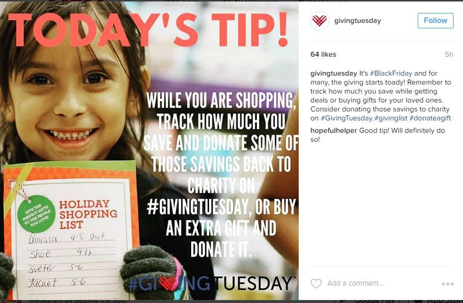 Instagram from #givingtuesday