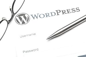 WordPress username and password