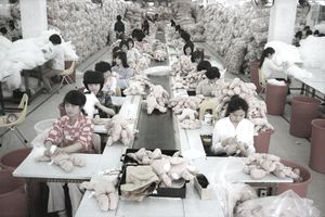 Chinese factory workers making products for eBay