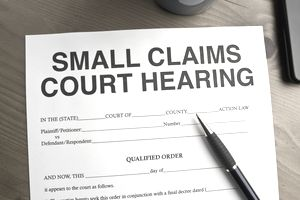 The small claims process begins with filing complaints and forms.