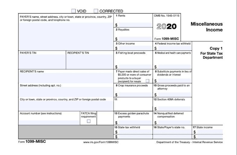 Income payments are reported on Form 1099-MISC