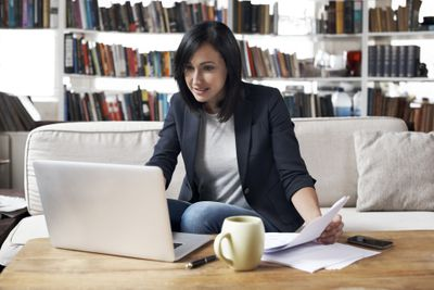 Self-Employed Woman Working From Home