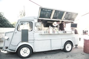Food truck in the street