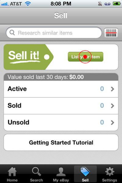 Visual Guide to Selling Using eBay's iPhone App