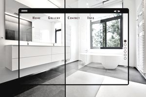 Modern site web interface for gallery.