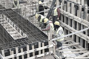 Concreting formwork for the foundation