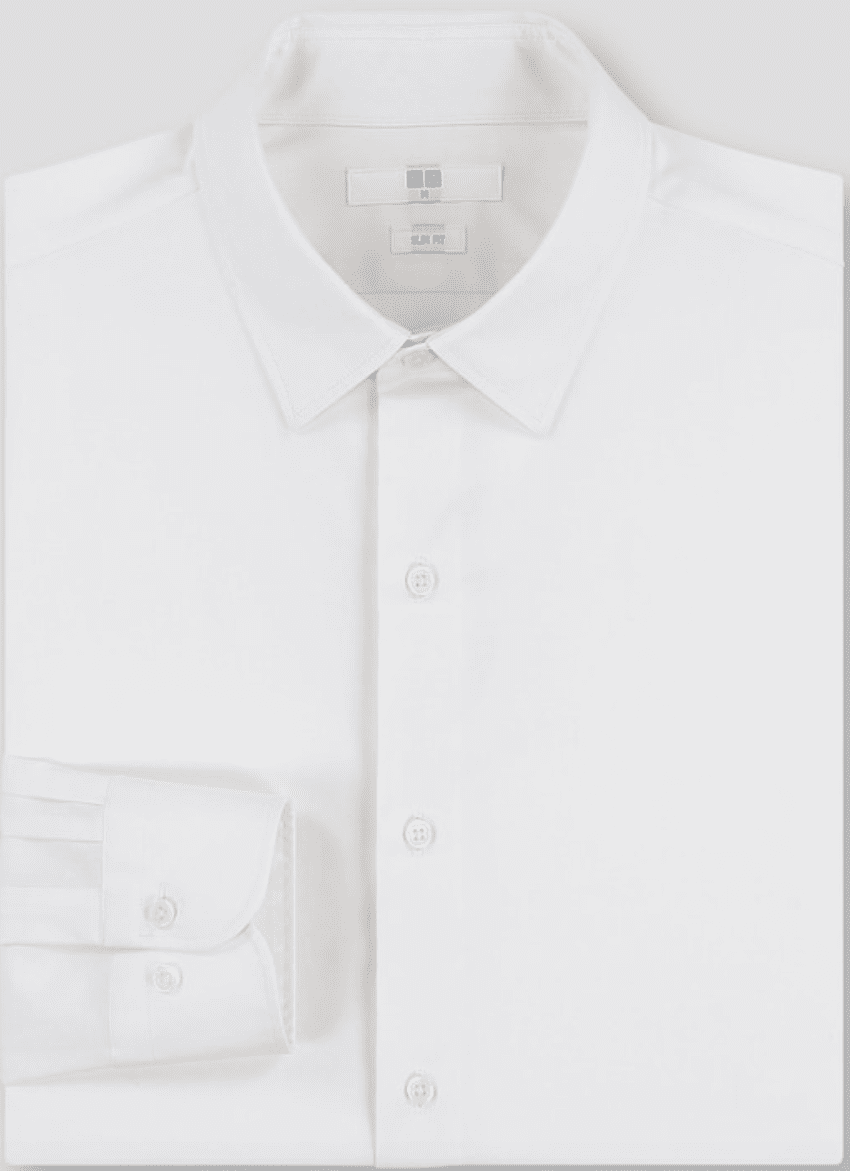 Uniqlo Easy Care Slim-Fit Long Sleeve Shirt
