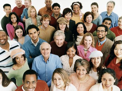 Group of Men, Women, and People of All Ages and Ethnicities.