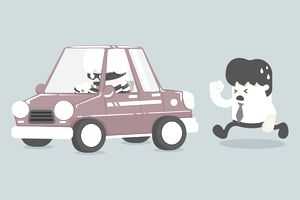 Car theft illustration