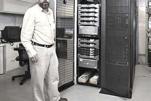 Gregory Mehlhorn, Facilities Manager, ERP & School Division, standing in Tyler Technologies