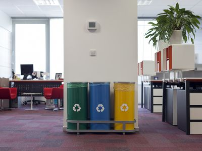 Recycle Cans in an office