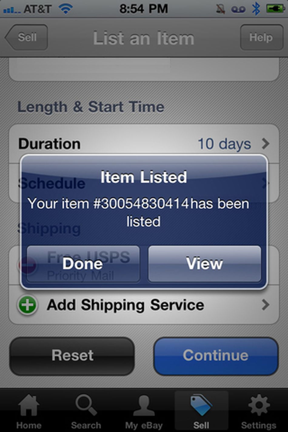 how to sell a car on ebay iphone app