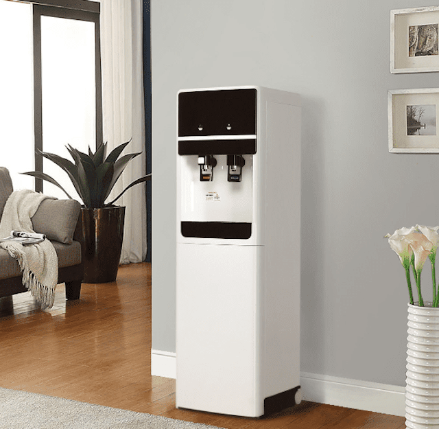 Costway Top-Loading Water Cooler with Storage Cabinet