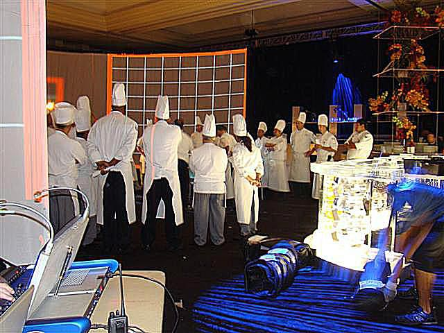 Executive chef and team at Caesar's for MPI WEC 2008