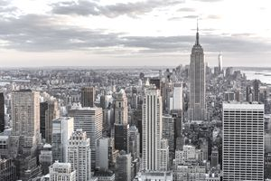The Empire State Building with Manhattan