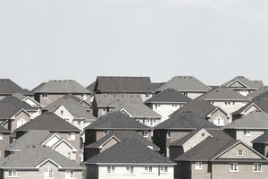 Subdivision rooftops in Newmarket, Ontario, Canada.
