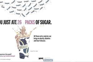 Ad to persuade people to stop drinking sugary soda.