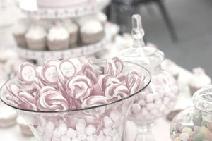 candy in a candy dish