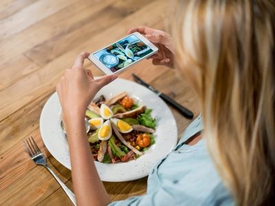 Photographing a chef's salad
