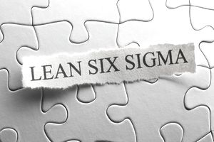 Lean Six Sigma typed on paper