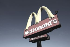 McDonald's restaurant drive-thru sign