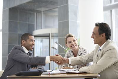 Meeting between client and adviser.