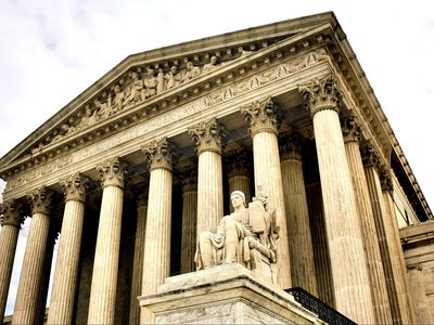 Exterior view of the Supreme Court.
