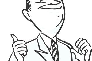 Businessman with a self-satisfied smile