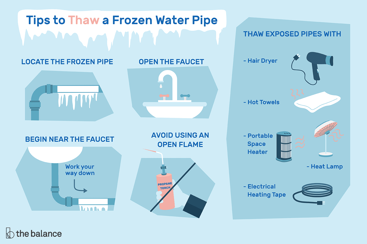 7 Tips For Thawing A Frozen Water Pipe