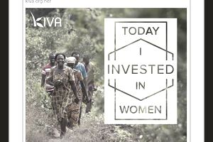 A Facebook ad from Kiva.