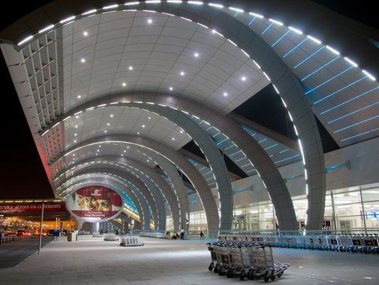 Middle East, UAE, Dubai, airport new Al Maktoum was a large construction project.